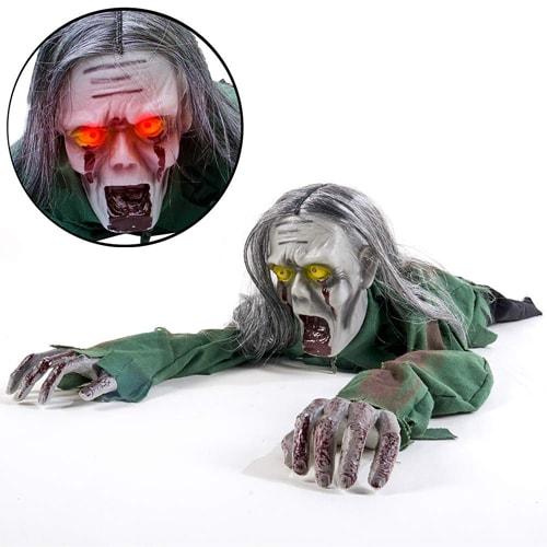 Crawling Ghost Long Hair Skeleton having horror voice