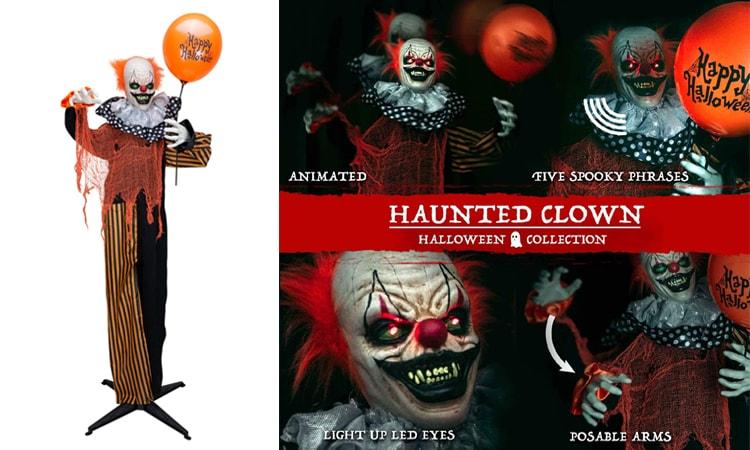 Creepy Clown Halloween Animatronic