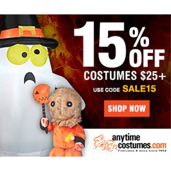 15% Off Costumes $25